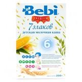 Bebi Prem каша молочн 7 злаков с 6мес 200г