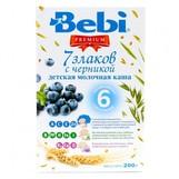 Bebi Prem каша молочн 7 злаков с черникой с 6мес 200г
