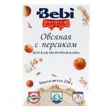 Bebi Prem каша молочн овсяная с персиком с 5мес 250гр